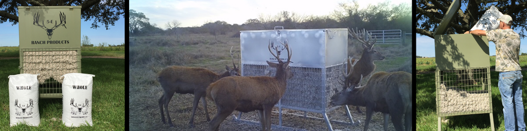 5-E Ranch Products LLC cottonseed feeder and deer on camera
